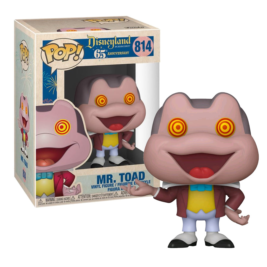 Disneyland 65th Anniversary Pop! Vinyl Figure Mr. Toad with Spinning Eyes [814]