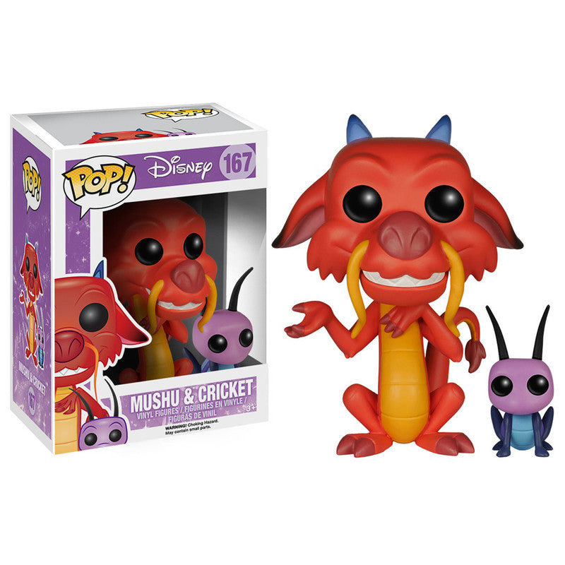 Disney Pop! Vinyl Figure Mushu and Cricket [Mulan]