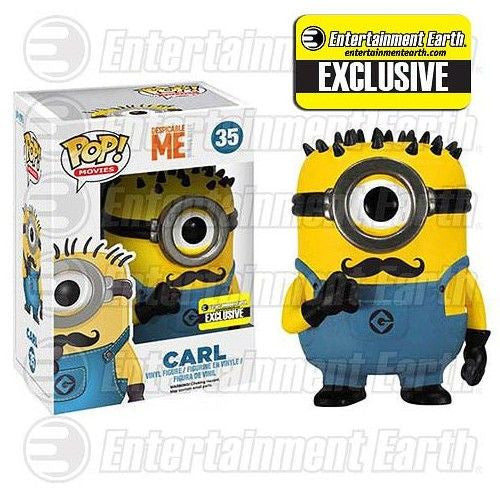 Despicable Me 2 Pop! Vinyl Figure Mustache Carl [Entertainment Earth Exclusive]