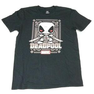Marvel Pop! Tees Ornate Grey Deadpool - XS