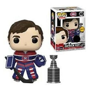 NHL Pop! Vinyl Figure Patrick Roy with Stanley Cup (Montreal Canadiens) (Chase) [48] - Fugitive Toys