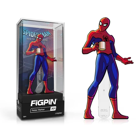 Spider-Man: Into The Spider-Verse FiGPiN Enamel Pin Peter Parker (NYCC 2019 Exclusive) [301] - Fugitive Toys