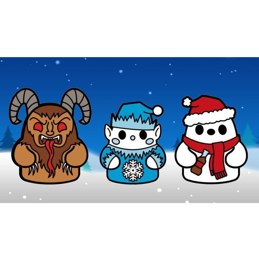 Bimtoy Tiny Ghost Pins [Xmas Series 3] [3 Pack]
