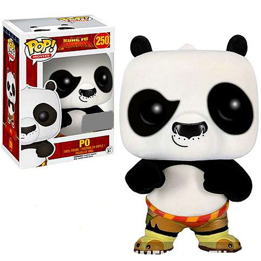 Kung Fu Panda Pop! Vinyl Figures Flocked Po [250]
