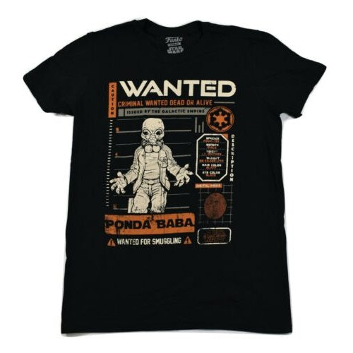 Star Wars Pop! Tees Cantina Ponda Wanted - Large