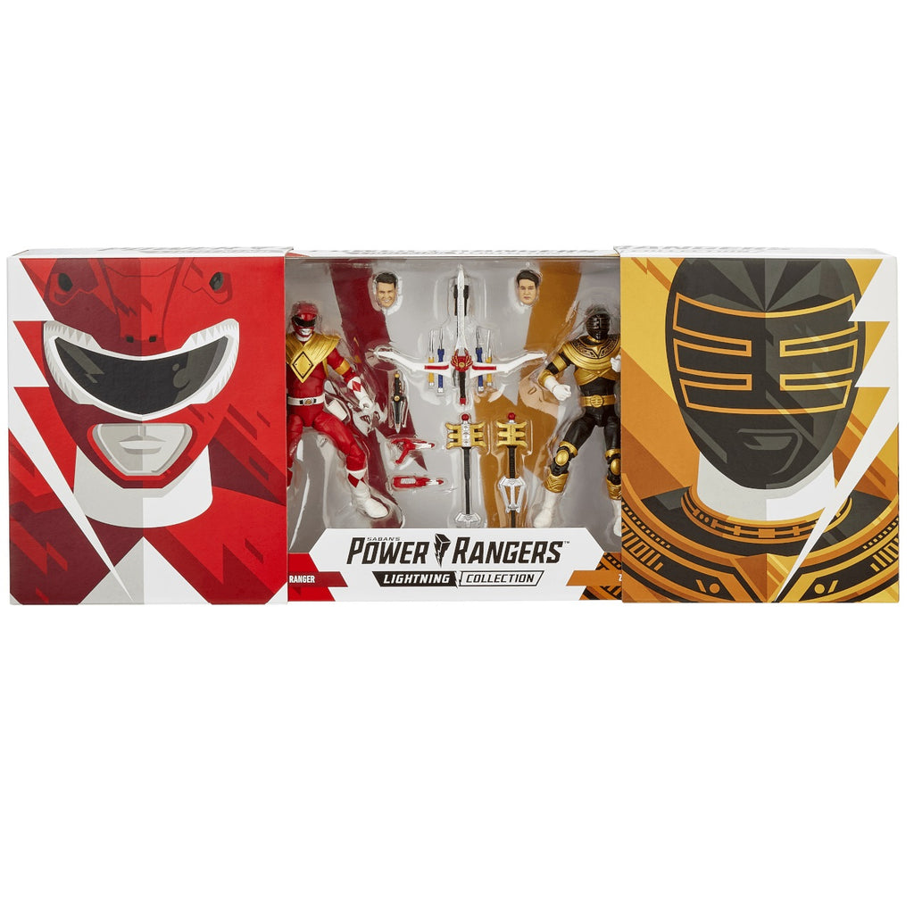 Hasbro Power Rangers Lightning Collection Red and Gold Zeo Rangers [2019 SDCC Exclusive]
