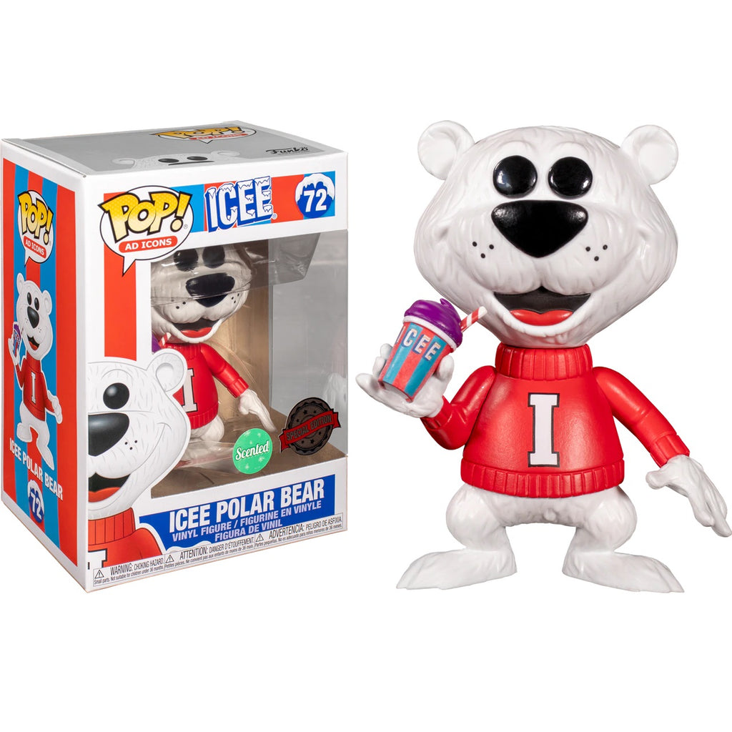 Ad Icons Pop! Vinyl Figure Icee Polar Bear Scented w/Purple Grape Icee [72]