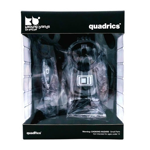 Kaching Brands Quadrics 001 Vinyl Figure Black by Maxim Zhestkov - Fugitive Toys
