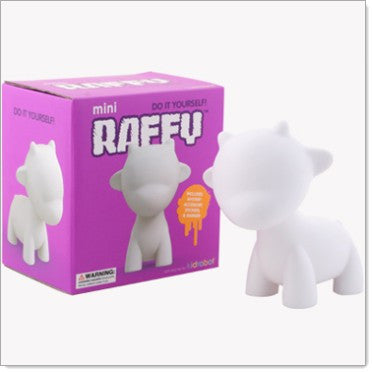 Kidrobot Mini Munny 4-inch White Edition - Raffy - Fugitive Toys