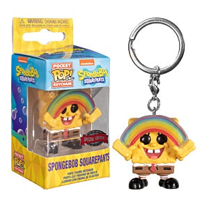 Spongebob Square Pants Pocket Pop! Keychain Spongebob with Rainbow