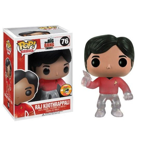 The Big Bang Theory Pop! Vinyl Figure Raj Koothrappali: Star Trek Red Shirt [SDCC 2013 Exclusive] - Fugitive Toys