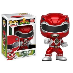 Power Rangers Pop! Vinyl Figure Red Ranger (Action Pose) (Metallic) [406]