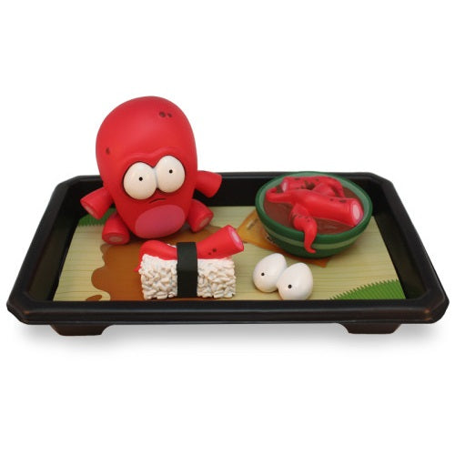 Dead Zebra Dyzplastic O-No Sushi Set Red by Andrew Bell