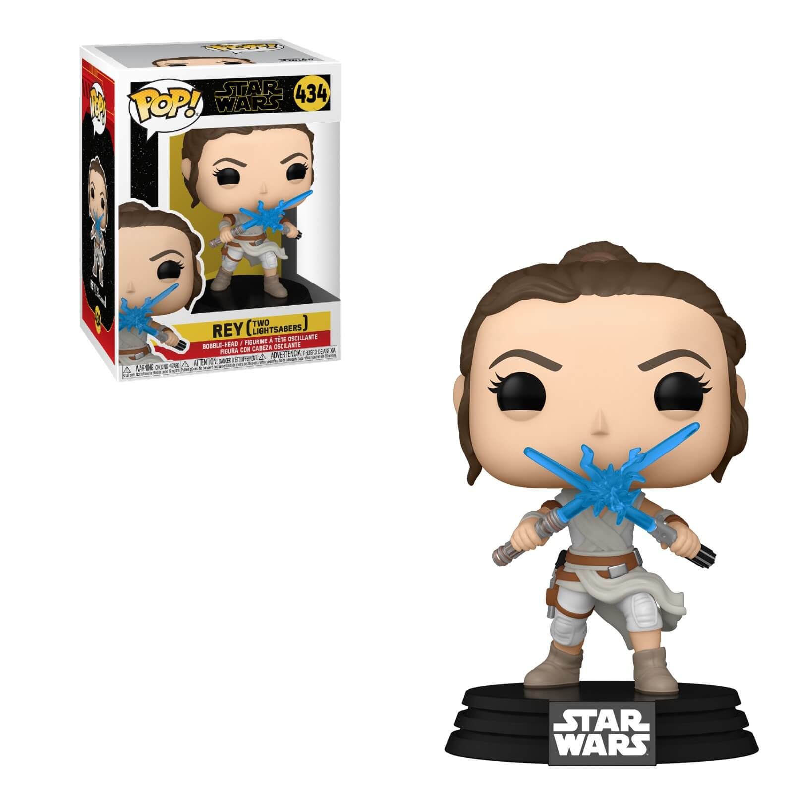 Star Wars The Rise of Skywalker Pop! Vinyl Figure Rey w/ 2 Lightsabers [434] - Fugitive Toys