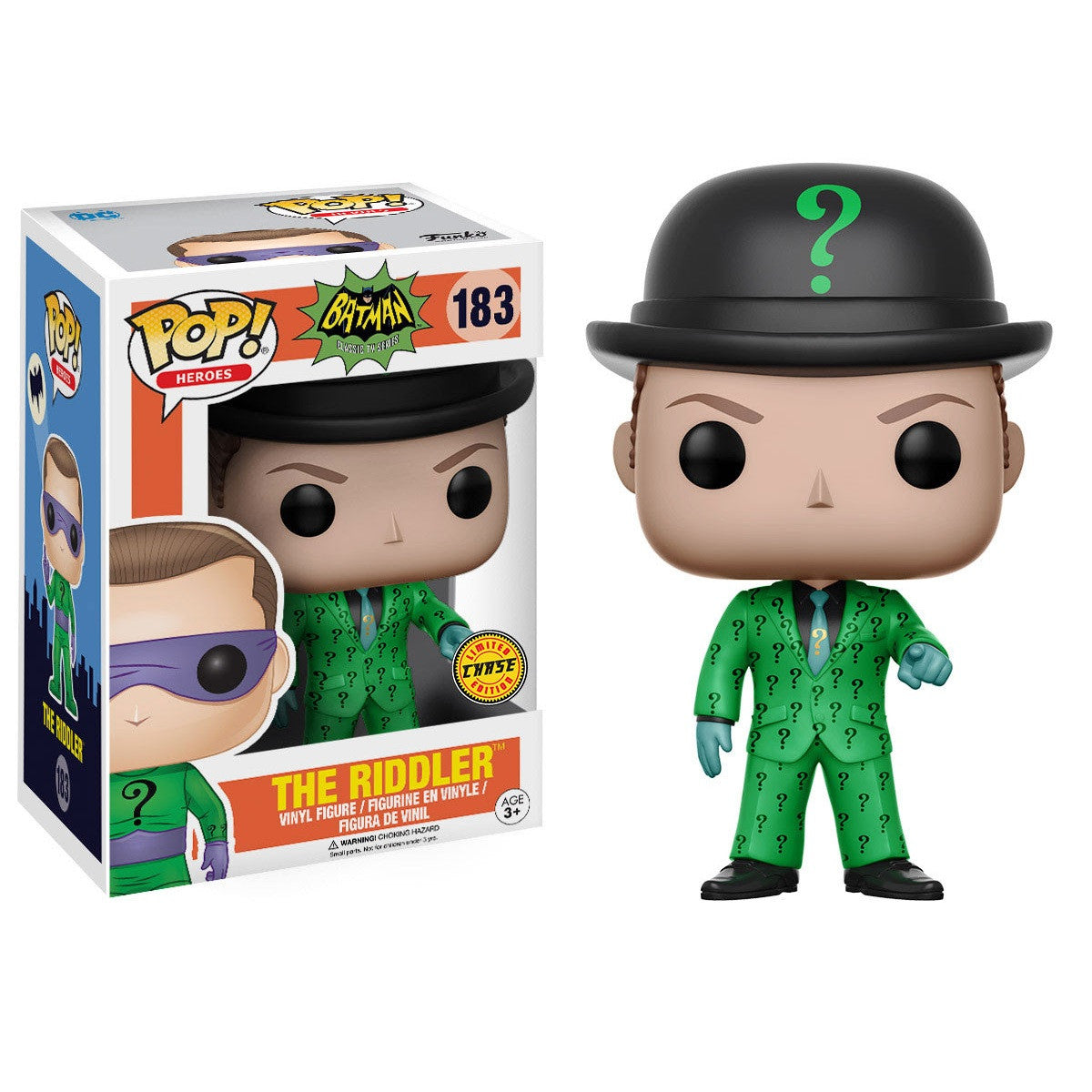 1960's Classic Batman Pop! Vinyl Figure The Riddler 1966 [Chase] - Fugitive Toys