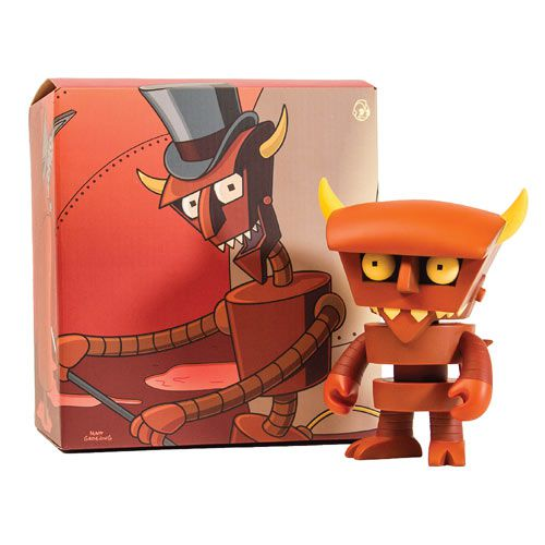 "Kidrobot x Futurama Robot Devil 6"" Brown Vinyl Figure - Fugitive Toys"