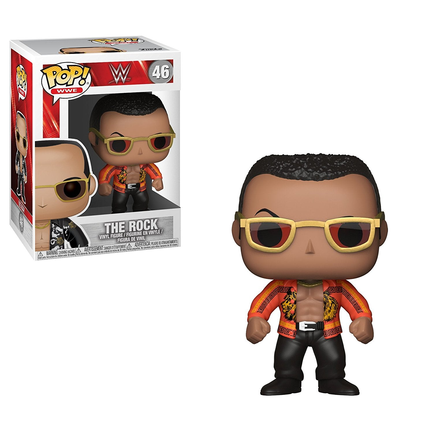 WWE Pop! Vinyl Figure The Rock Old School [46] - Fugitive Toys
