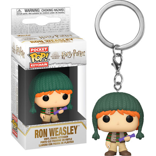 Harry Potter Pocket Pop! Keychain Holiday Ron With Purple Candy