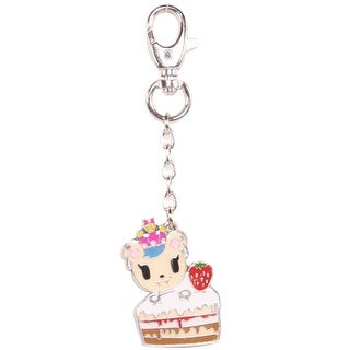 Tokidoki Buffet Savannah Strawberry Cake Keychain