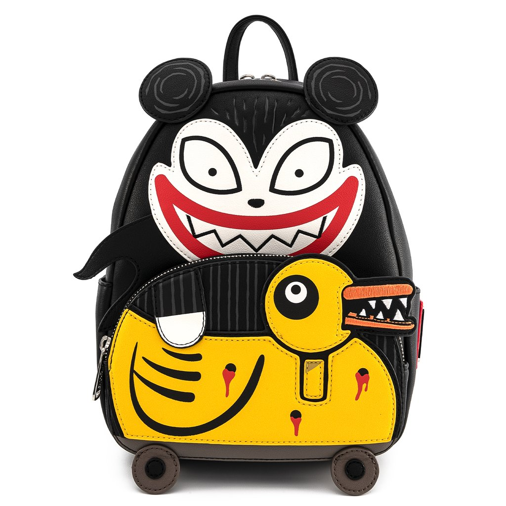 Loungefly x Disney Nightmare Before Christmas Scary Teddy and Undead Duck Mini Backpack - Fugitive Toys