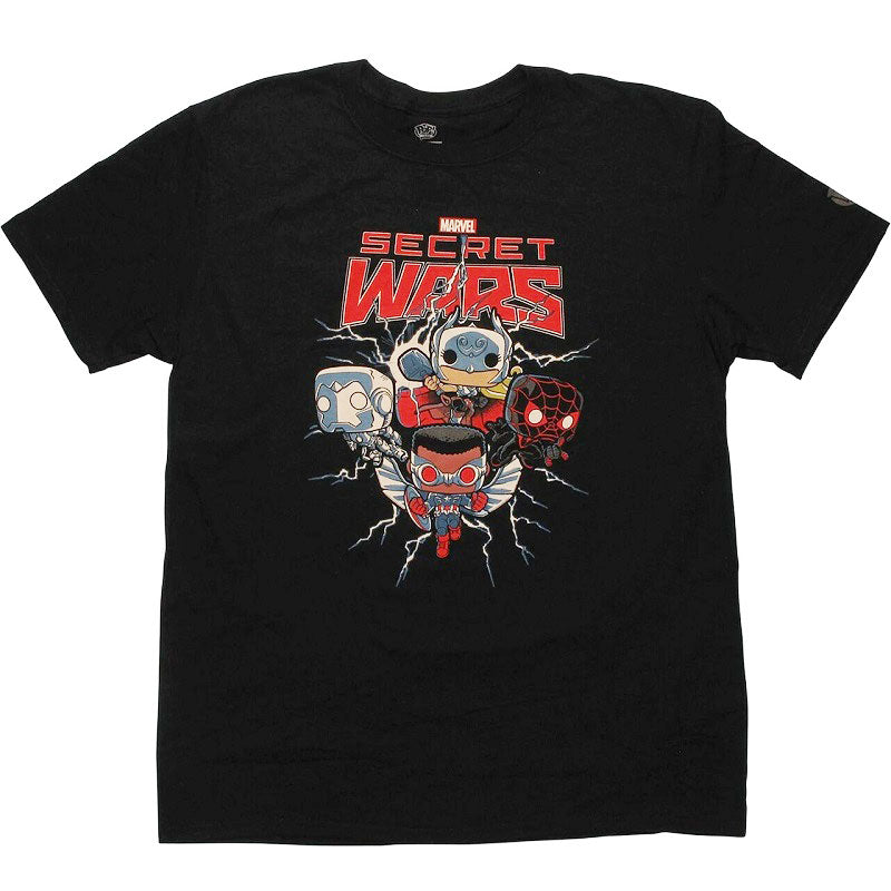 Marvel Pop! Tees Secret Wars Black - Large
