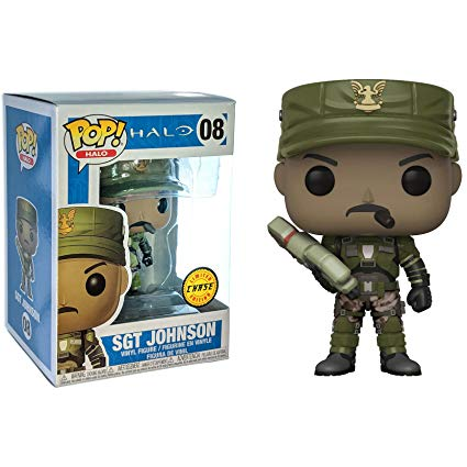 Halo Pop! Vinyl Figure Sgt. Johnson with Cigar (Chase) [08]