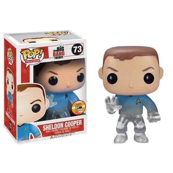 The Big Bang Theory Pop! Vinyl Figure Sheldon Cooper: Star Trek Blue Shirt [SDCC 2013 Exclusive]