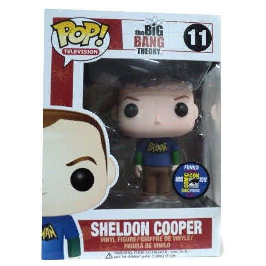 The Big Bang Theory Pop! Vinyl Figure Sheldon Cooper: Old School Batman T-Shirt [SDCC 2012 Exclusive] [11]