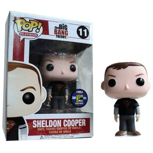 The Big Bang Theory Pop! Vinyl Figure Sheldon Cooper: Superman T-Shirt [SDCC 2012 Exclusive] [11] - Fugitive Toys