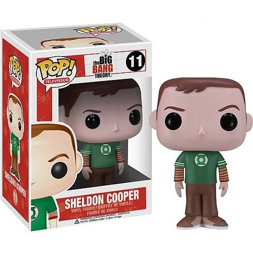 The Big Bang Theory Pop! Vinyl Figure Sheldon Cooper: Green Lantern T-Shirt