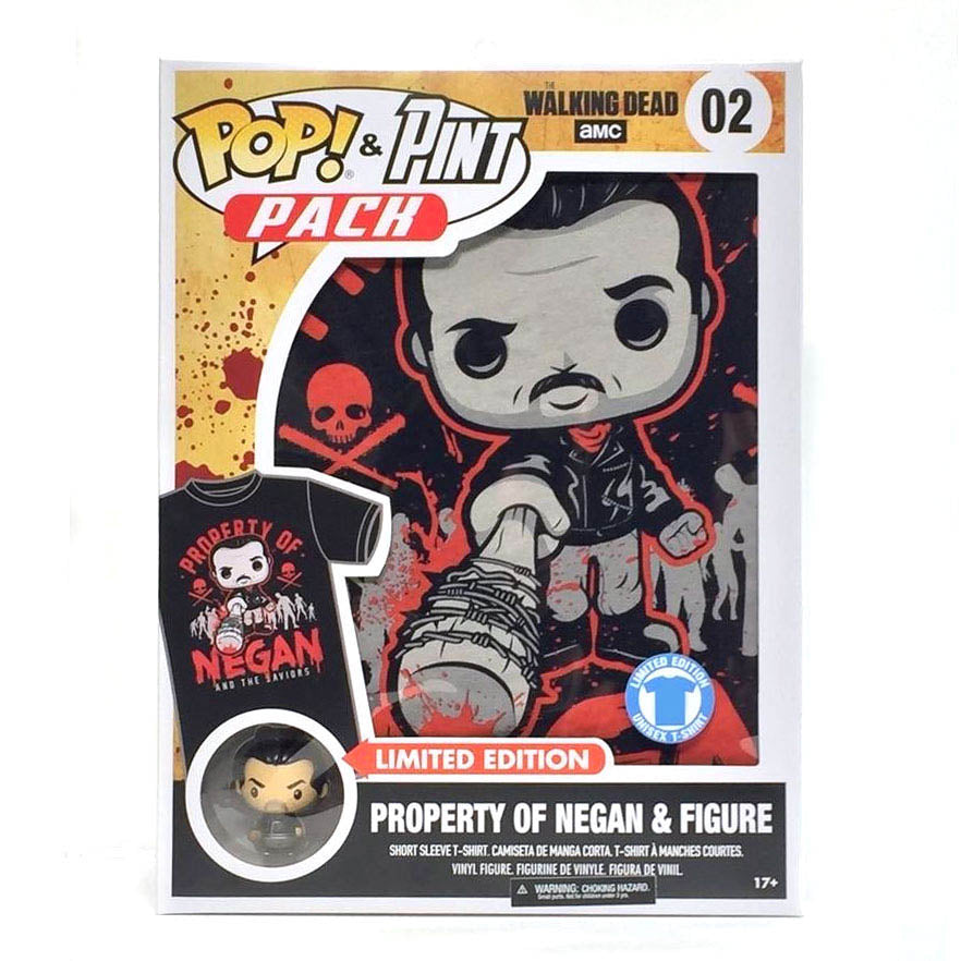 Pop! & Pint Pack The Walking Dead Property of Negan Tee & Figure (Medium)