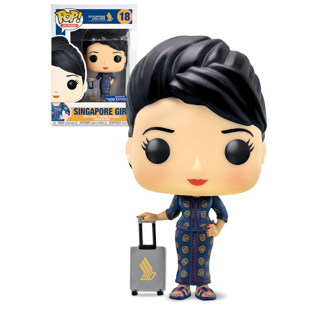 Ad Icons Pop! Vinyl Singapore Airlines Girl (KrisShop Exclusive) [18] - Fugitive Toys