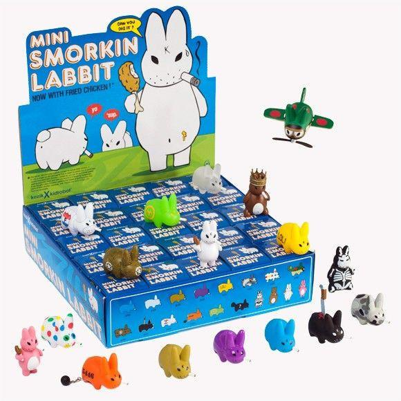 Kidrobot Mini Smorkin' Labbit (Now With Fried Chicken!) (Case of 25) - Fugitive Toys