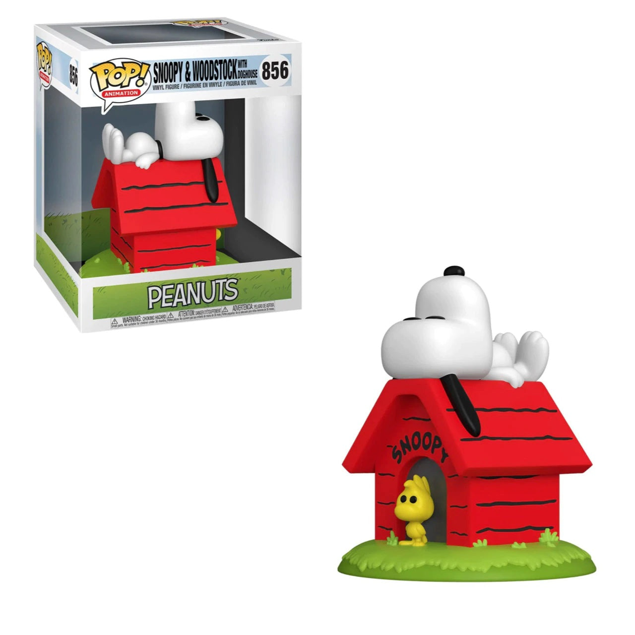 Peanuts Deluxe Pop! Vinyl Snoopy On Doghouse With Woodstock [856] - Fugitive Toys