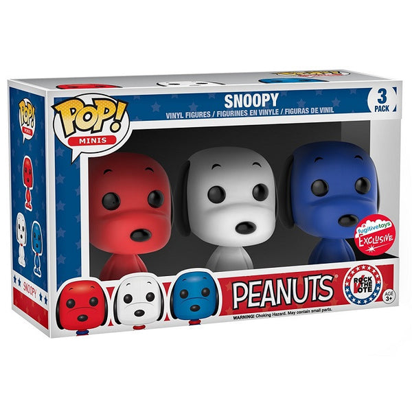 Rock The Vote Pop Vinyl Snoopy 3 Pack Fugitive Toys