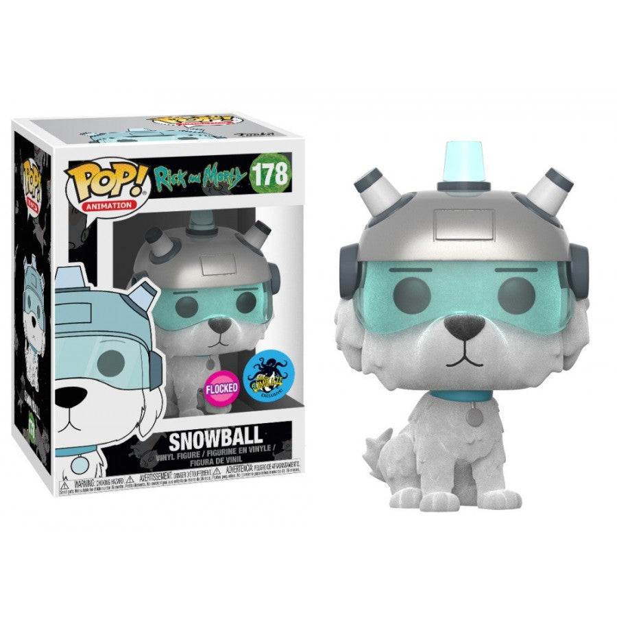 Rick and Morty Pop! Vinyl Figure Snowball (Flocked) [178]