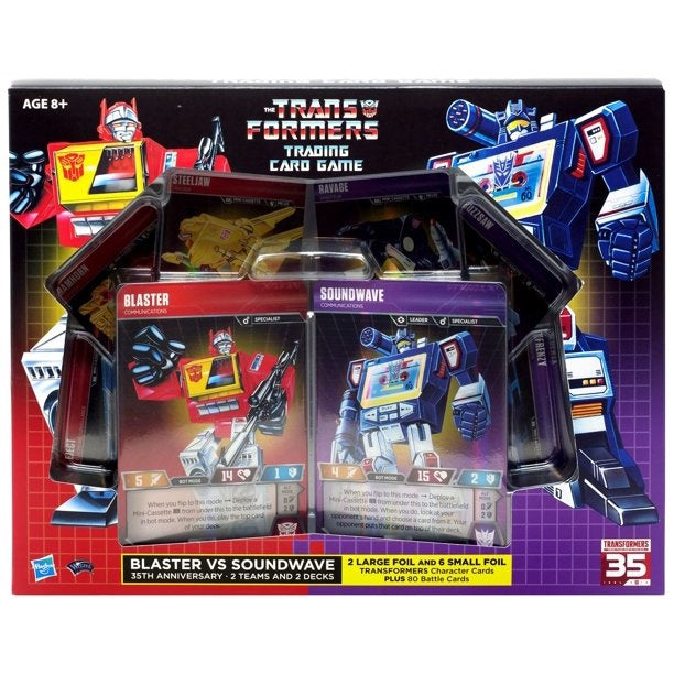 Hasbro Transformers Trading Card Game Blaster vs. Soundwave 35th [2019 SDCC]