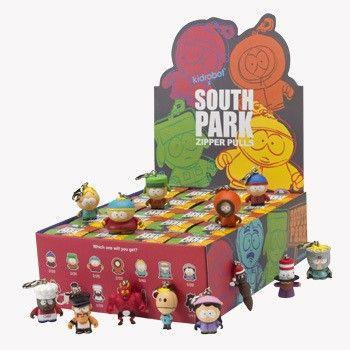 Kidrobot South Park Zipper Pulls: (Case of 20) - Fugitive Toys