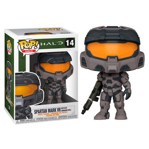 Halo Infinite Pop! Vinyl Figure Spartan Mark VII w/ VK78 Commando Rifle (Gray) [14]