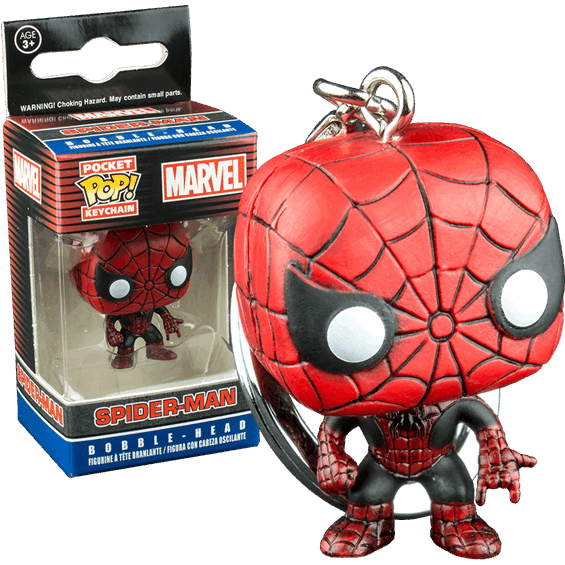 Marvel Pocket Pop! Keychain Spider-Man (Red & Black)