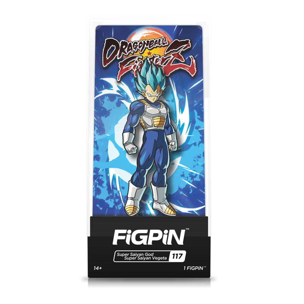 Dragon Ball Fighterz: FiGPiN Enamel Pin Super Saiyan God Super Saiyan Vegeta [117]