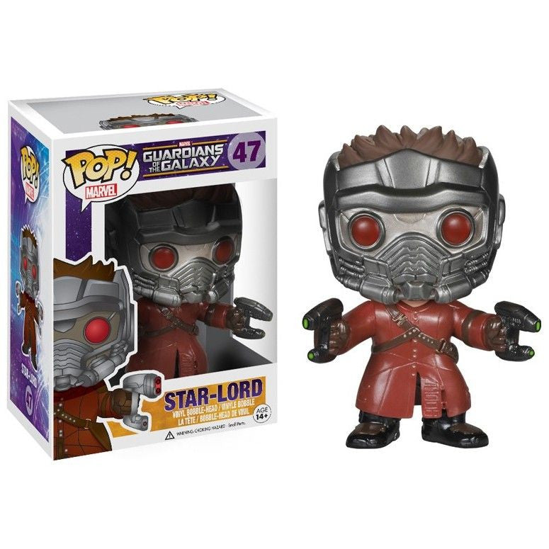 Marvel Guardians of the Galaxy Pop! Vinyl Bobblehead Star Lord - Fugitive Toys