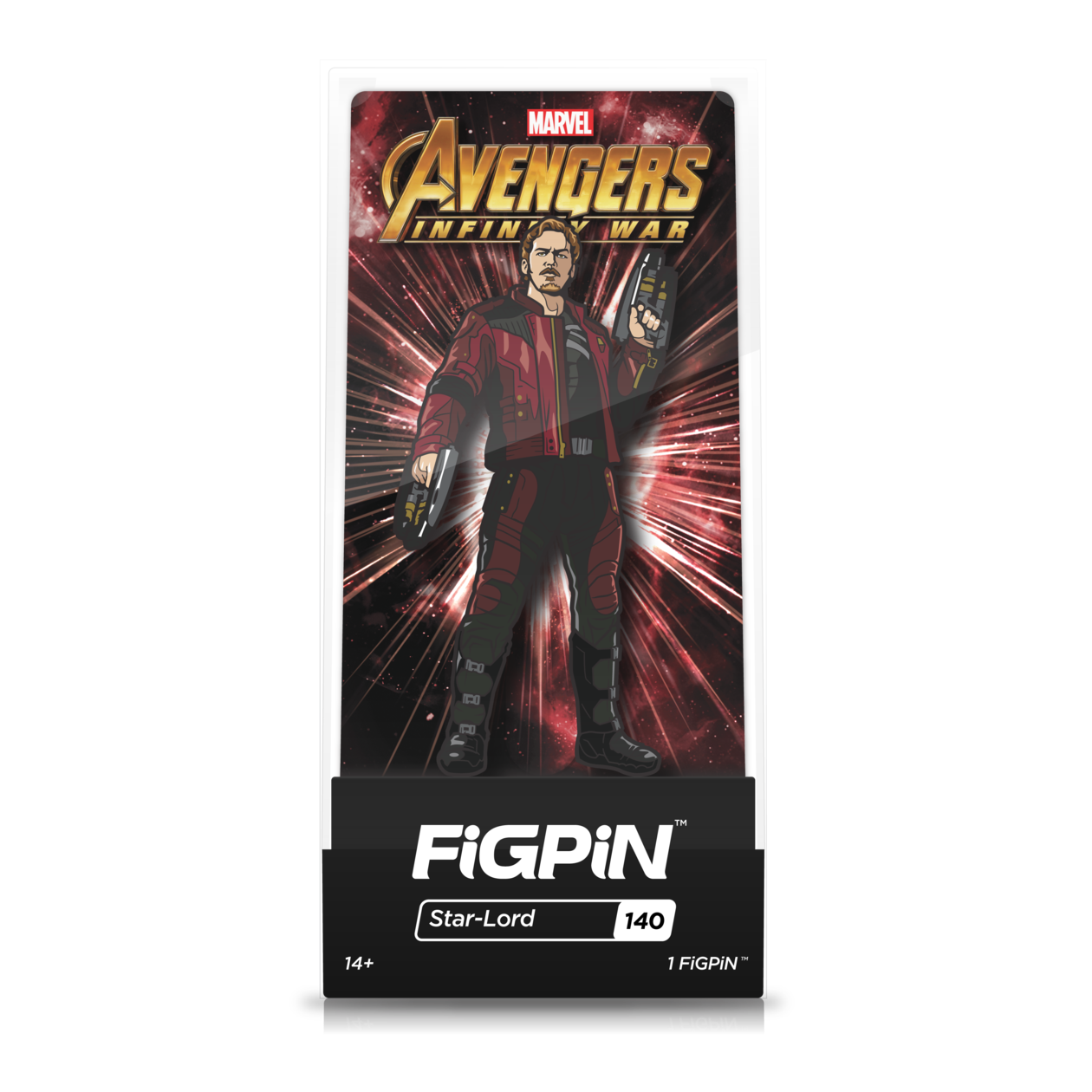 Avengers Infinity War: FiGPiN Enamel Pin Starlord [140] - Fugitive Toys