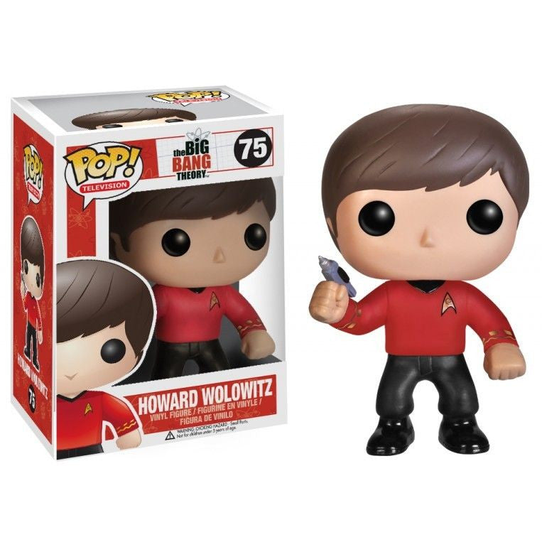 The Big Bang Theory Pop! Vinyl Figure Howard Wolowitz: Star Trek Red Shirt