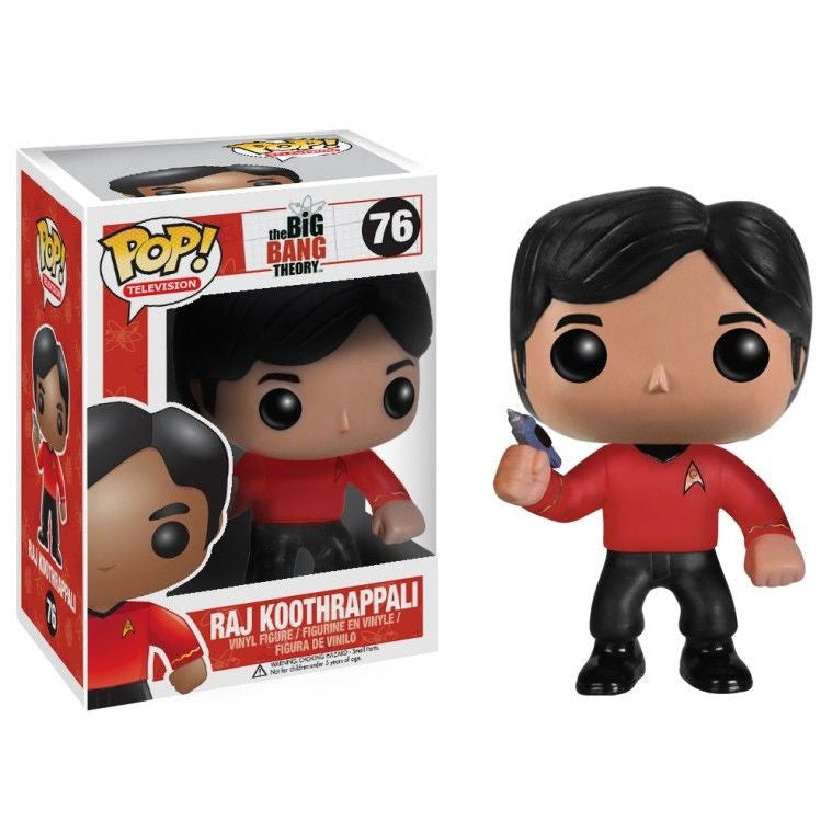 The Big Bang Theory Pop! Vinyl Figure Raj Koothrappali: Star Trek Red Shirt