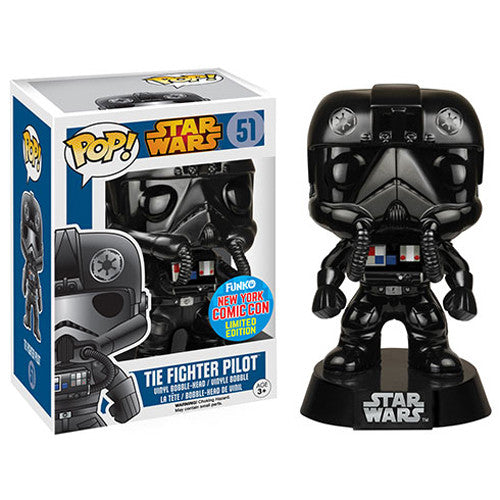 Star Wars Pop! Vinyl Bobblehead Chrome Tie Fighter Pilot [NYCC 2015 Exclusive] - Fugitive Toys