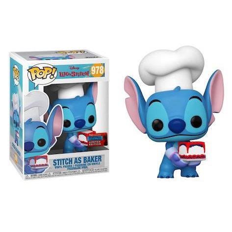 Disney Pop! Vinyl Figure Baker Stitch With Cake (2020 NYCC Shared) [978]