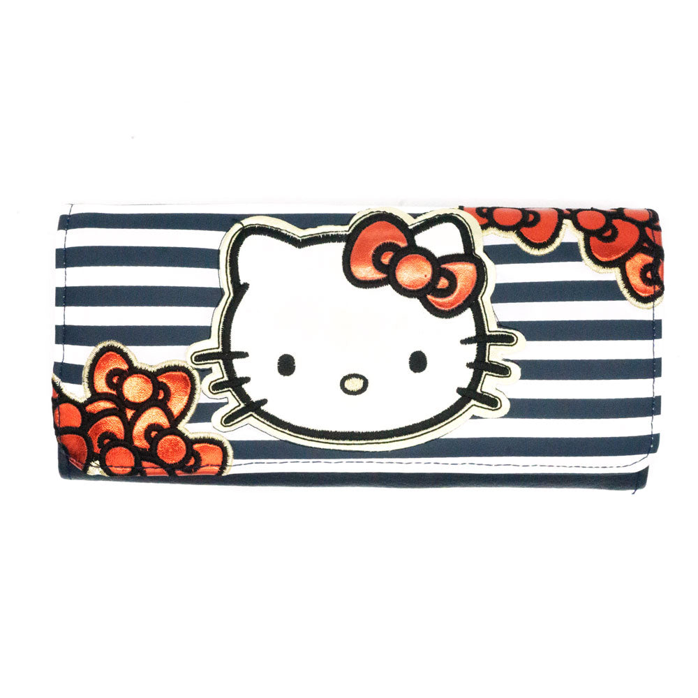 Loungefly x Hello Kitty Striped Metallic Tri-Fold Wallet