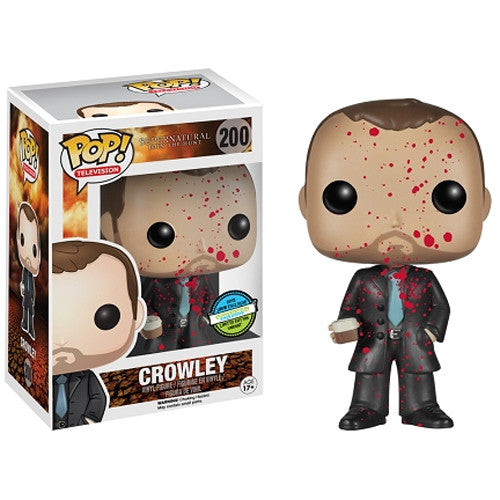Supernatural Pop! Vinyl Figure Blood Splattered Crowley [Conventions Exclusive] - Fugitive Toys