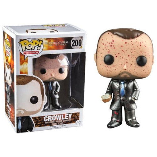 Supernatural Pop! Vinyl Figure Blood Splattered Metallic Crowley [Exclusive]